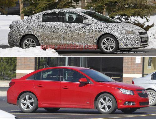 2015款科鲁兹谍照车与现款车型的对比-2015款雪佛兰科鲁兹谍照 盘点