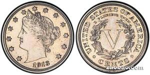 一枚100年前5美分硬币拍出300万美元高价(图)