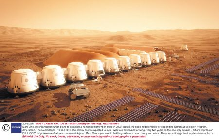 火星永久定居点外部效果图。 IC供图