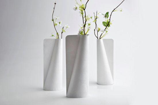 Бумажная ваза своими руками фото