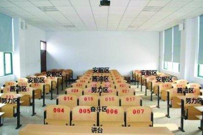 网友为教室座位制作的分区图,你属于哪个区?