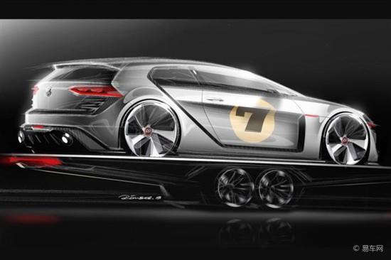 [提要] 据悉,即将在奥地利开幕的沃特湖(Worthersee)改装节上,大众将为车迷们带来一个新款车型GTI概念车(Design Vision GTI),并且曝光了该款概念车的手绘设计图。从曝光的设计图来看,这款GTI概念车外观相当霸气,加入了诸多运动套件,20英寸战斧式轮毂、陶瓷制动盘和后扰流板设计凸显出强烈的运动气息。