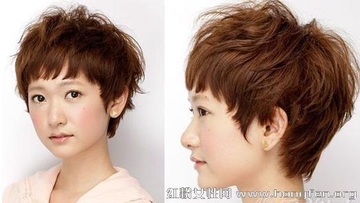 2013最新短发适合方形a短发一整夏短发的脸适不烫发发型图片