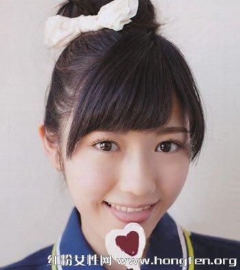 女学生无刘海发型图片展示图片