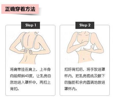 文胸正確穿戴步驟圖_正確穿戴文胸,正確穿戴文胸 ...
