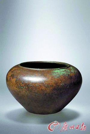 清乾隆 钵式大铜香炉 253万元成交。
