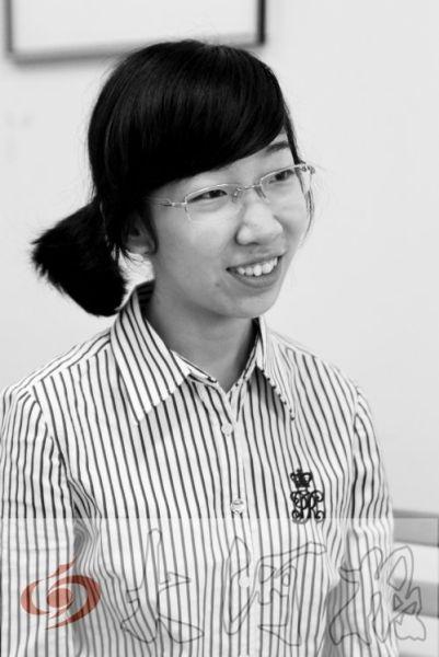 王晓宁说,她想去美国大学搞天体物理研究。许俊文 摄影