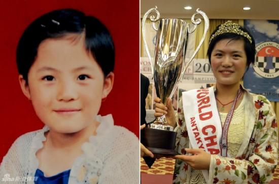 ...明星的金色童年时光.左图:侯逸凡5岁照.右图:2010年12月24...