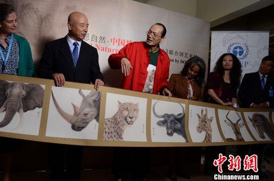 中国艺术家董希源联合国举办个人艺术展(图)