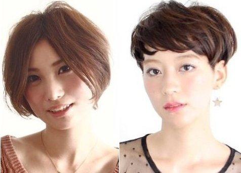 圆脸也能驾驭的短发 MM学起来图片