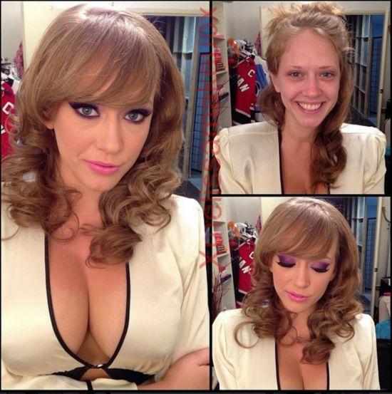 化妆师公开色情女星妆前后不堪入目对比照图【28】