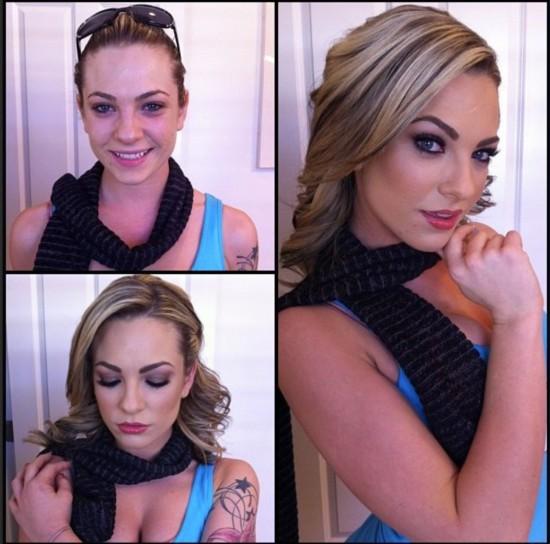 化妆师公开色情女星妆前后不堪入目对比照图