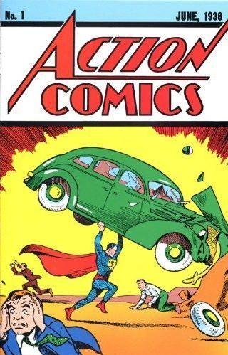 1938年出版的超人漫画拍出17.5万美元高价。