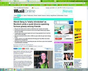 英国媒体报道邓文迪离婚。