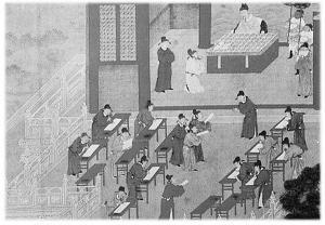 古代科举分文、武科 考三天题量大且杂