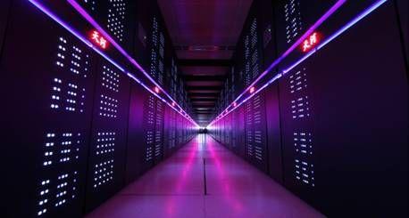 天河二号超级计算机。 图片来源:科技部网站