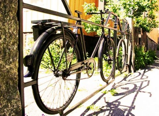 自行车废件的废物利用_手工小制作