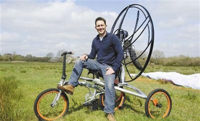 英国开售飞行自行车 操作简便最高飞1219米(图)