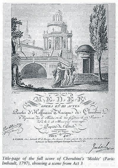 641亲眼看见你歌谱-歌剧《美狄亚》曲谱封面.-凯鲁比尼最著名歌剧 美狄亚 手稿200多年
