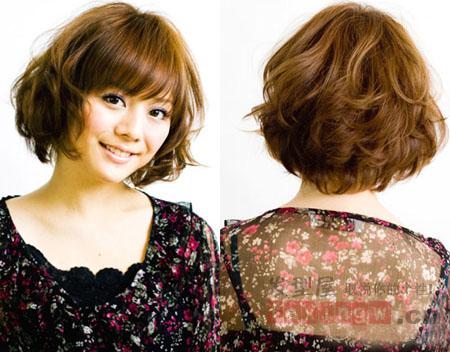 齐刘海短梨花头 -日系短发发型图片 轻盈短发让你夏日气质UP