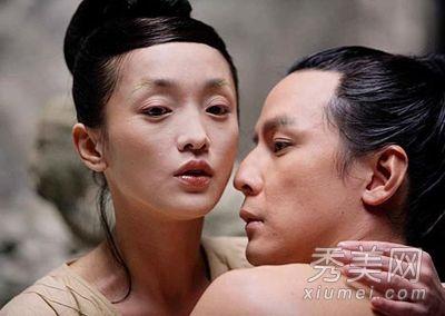 《幸福额度》中 廖凡与林志玲赤膊上阵拍摄的激情戏