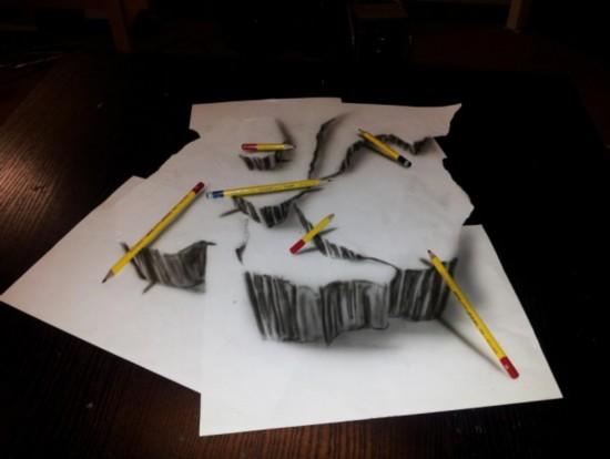 神八航天员_荷兰艺术家绘制神奇逼真3D素描图【12】--科技--人民网