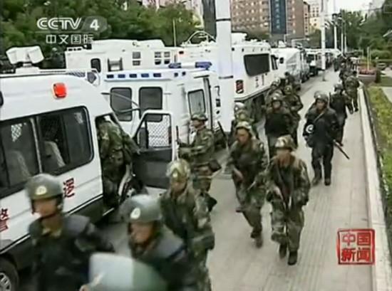 驻疆武警部队反恐维稳誓师大会图片
