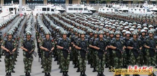 新疆武警部队举行反恐维稳誓师大会图片