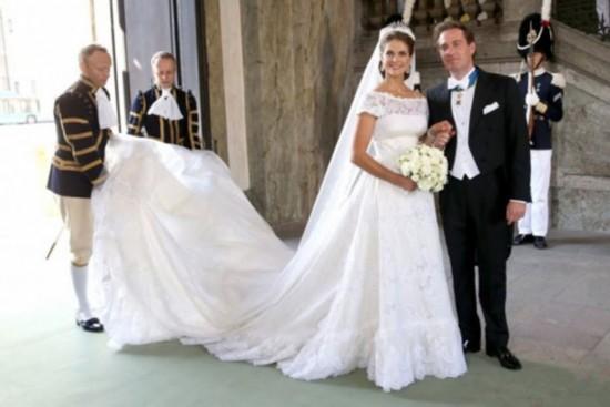设计 婚纱 玛德莲/瑞典公主玛德莲和纽约企业家欧尼尔的婚礼,于当地时间6月8日在...