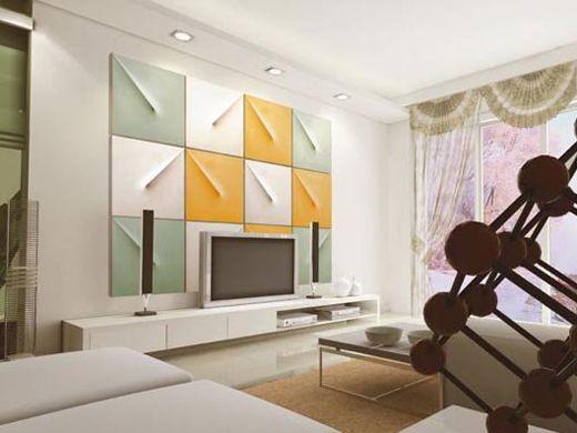 △500元预算——几何造型装饰背景墙     tips:木工油工分工
