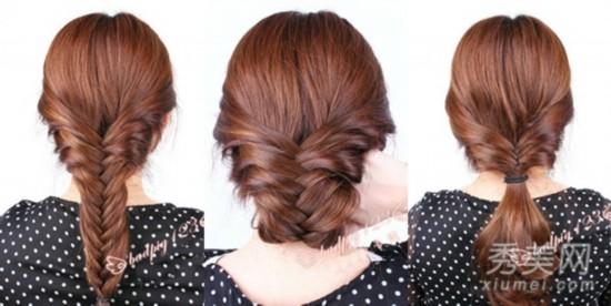 夏季长发怎么扎 3款鱼骨辫编发很漂亮【图】图片