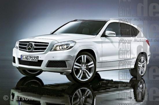 奔驰全新glk效果图,据之前报道,新车将于2015年正式发布.高清图片