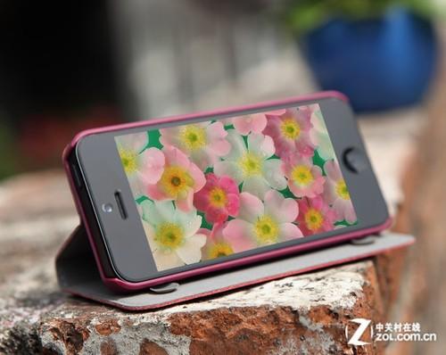 古古美美iPhone5左右翻盖真皮保护套-全包裹防掉漆 iPhone 5翻盖保护