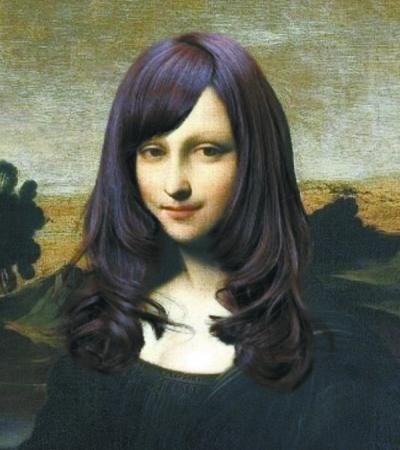 不同发型的蒙娜丽莎