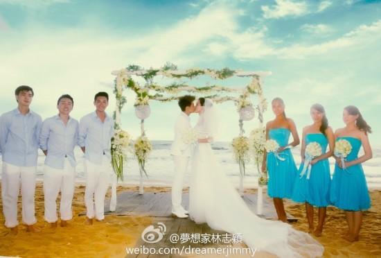 林志颖婚礼现场照