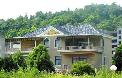江西宜春,气功大师王林在樟竹路紫薇山庄旁的别墅。图/CFP