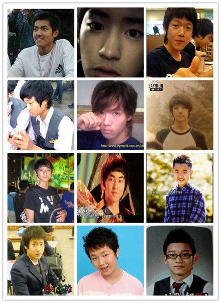 鹿晗 鹿晗尼/网友们搜索出了EXO成员未出道时的照片,青涩的模样萌翻粉丝。
