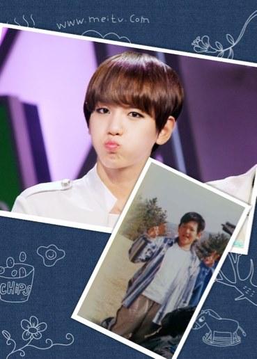 鹿晗尼/网友们搜索出了EXO成员未出道时的照片,青涩的模样萌翻粉丝。