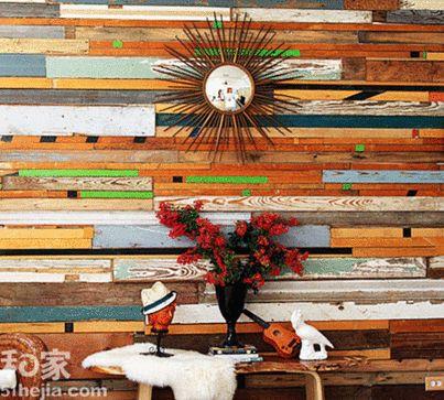 森林其境 21款原木贴上墙