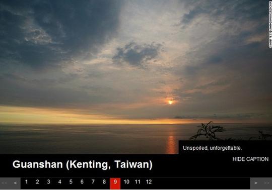 CNN评选世界12大落日美景台湾垦丁关山入榜