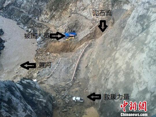 青海海南突发泥石流14名被困人员已被救出(组图)