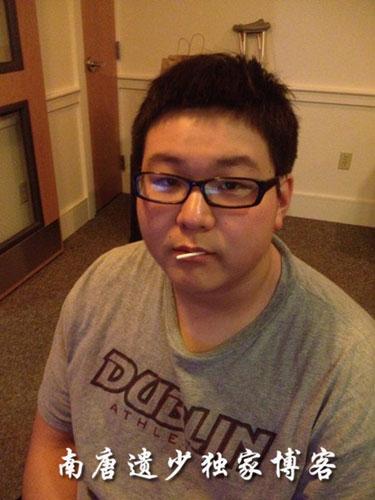 罗京19岁儿子罗疏桐近照曝光被指造型油腻非主流
