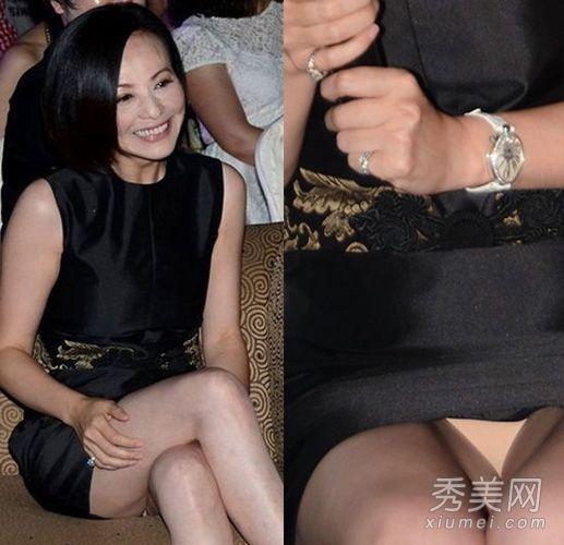 女星裙子太短很尴尬 坐姿不雅秀裙下春光- 中国日报网