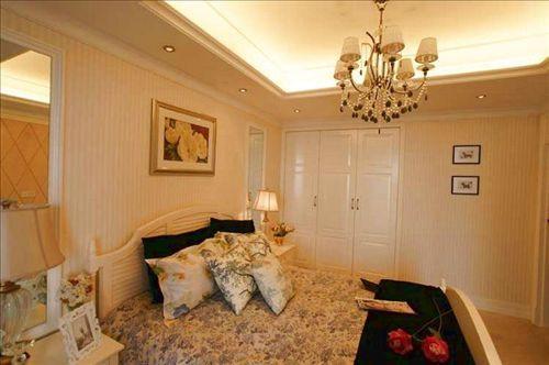 婚房卧室装修效果图:欧式风格卧室装修样板 -时尚简约婚房卧室装修图