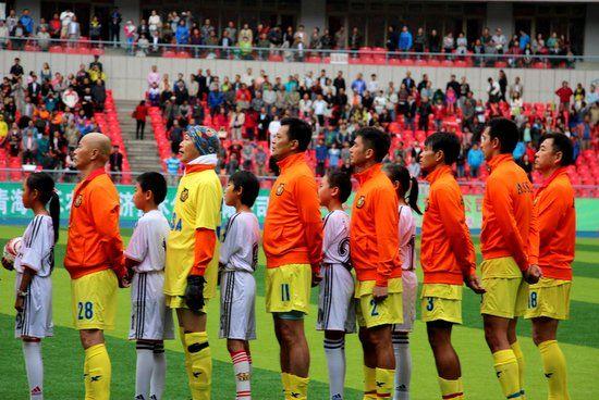 香港明星足球队西宁友谊赛举行