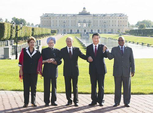 习近平出席金砖国家领导人非正式会晤时强调金砖国家要凝聚共识加强图片