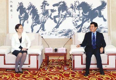 巴音朝鲁会见第六届东北亚青年企业家发展论坛