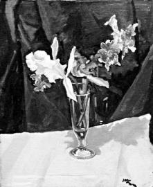 丘吉尔这幅以兰花为主题的油画《迷失》起拍价高达75万英镑