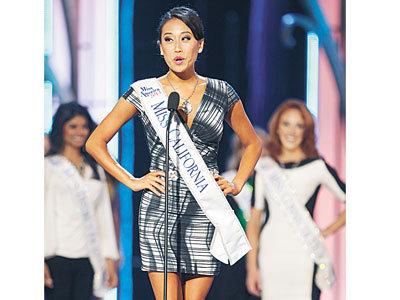 美国小姐选美华裔表现亮眼两美女荣膺前五名(图)