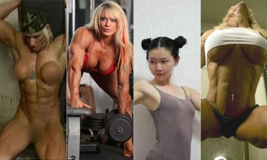 然而一些女子健身者完全可以颠覆我们的三观